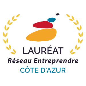 logo lauréat Réseau Entreprendre Côte d'Azur